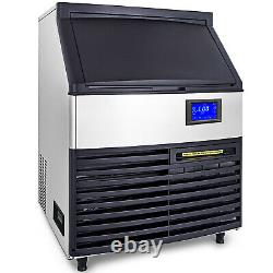 VEVOR 265lbs Commercial Ice Maker Ice Cube Making Machine with 99lbs Storage Bin