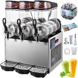 VEVOR 36L Commercial Frozen Drink Slushy Making Machine Smoothie Ice Maker 3x12L