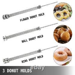 VEVOR 9L Commercial Automatic Donut Maker Fryer Making Machine 3 Sets Free Mold
