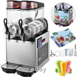 VEVOR Commercial 24L Slush Making Machine 2x12L Frozen Drink Smoothie Ice Maker