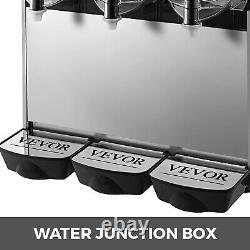 VEVOR Commercial 3 Tanks Frozen Drink Slushy Making Machine Smoothie Maker 36L