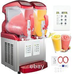 VEVOR Commercial Frozen Drink Slushy Making Machine Ice Maker 2x6L LED Display