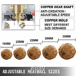 VEVOR Commercial Meatball Making Machine Pork Beef Fish Meatballs Maker 1100W