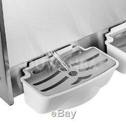 110v Boisson Gelée Au Slush Slushy Making Machine Smoothie Maker 15l3