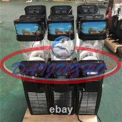 110v Commercial 3 Réservoir Congelé Boisson Slush Faire Machine Maker Smoothie Tkx-03