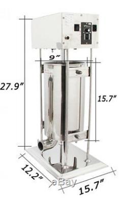 110v Commercial Électrique Saucisse Stuffer Viande De Remplissage Maker Machine De Fabrication 15l