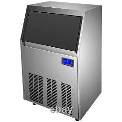 150lbs Commercial Ice Maker Ice Maker Ice Cube Making Machine 70kg Automatique 33lbs Storag