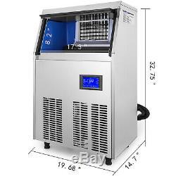 155lbs Ice Maker Commercial Ice Cube Making Machine De 70 KG Micro-ordinateur De Sus