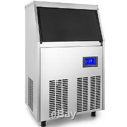 155lbs Ice Maker Ice Cube Machine De Fabrication De Lampe Stérilisante 70 KG Stockage De Glace