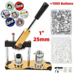 25mm 1 Button Maker Machine 1000 Boutons Making Kit Bags Badge Maker