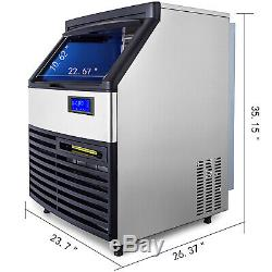265lbs Ice Maker Ice Cube Machine De Fabrication 120 KG / 24h Commercial Stérilisante Lampe