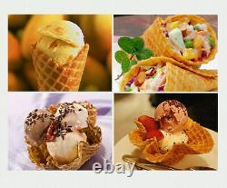 2.2kw Electric Ice Cream Cone Maker Crispy Waffle Cone Making Machine 220v New