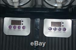 2 Boisson Réservoir Congelé Slush Slushy Fabrication De Jus De Machine Smoothie Maker 22l M