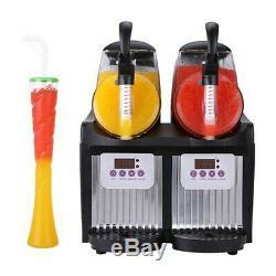 2 Boissons Réservoir Congelé Slush Slushy Fabrication De Jus De Machine Smoothie Maker 22l