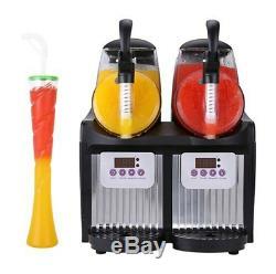 2 Boissons Réservoir Congelé Slush Slushy Fabrication De Jus De Machine Smoothie Maker 22l Ssjj