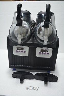 2 Boissons Réservoir Congelé Slush Slushy Machine De Fabrication De Jus De Smoothie Maker 22.5l