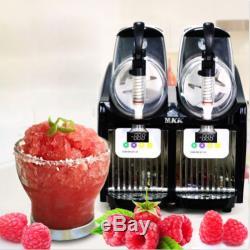 2 Boissons Réservoir Congelé Slush Slushy Machine De Fabrication De Jus De Smoothie Maker 2-2l Nouveau