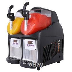 2 Boissons Réservoir Congelé Slush Slushy Machine De Fabrication Jtkx02 Jus Smoothie Maker 22l