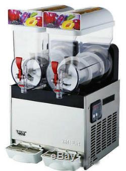 2 Boissons Réservoir Congelé Slush Slushy Making Machine Smoothie Maker Us Commercial