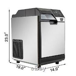 2 En 1 Machine À Glaçons Commerciale Machine De Production De Glace Avec Distributeur D'eau 110lbs 24hrs
