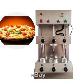2 En 1 Pizza Commercial Cône Making Formant Maker Machine + Four Rotational