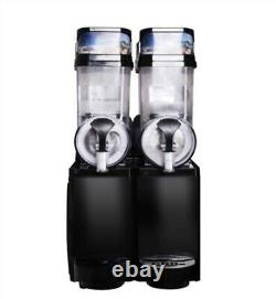 2 Tank Frozen Drink / Slush Making Machine Juice Slushy Smoothie Maker Nouveau Om