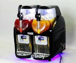2 Tank Frozen Drink & Slush Slushy Making Machine Juice Smoothie Maker 110v États-unis