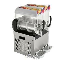 2 X 15l Barbotine Slush Machine Faire Boisson Glacée Machine Smoothie Maker 700w