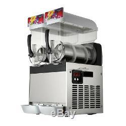 2 X 15l Barbotine Slush Machine Machine De Fabrication De Boisson Glacée Smoothie Machine À Glaçons