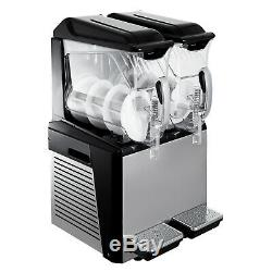2x10l Barbotine Slush Machine Machine De Fabrication De Jus Congelé Boisson Smoothie Maker