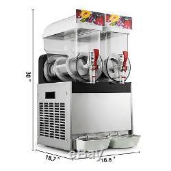 30l 2 Réservoirs Boisson Glacée Slush Slushy Making Machine Smoothie Machine À Glaçons