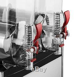 30l Boisson Gelée Au Slush Slushy Making Machine Smoothie Maker Ice 2x15l