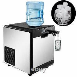 35kg / 24h Avec Machine À Glaçons Cool Water Distributeur 14lbs De Stockage De Glace Faisant La Machine