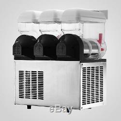3 Réservoir Slush Slushy Making Machine 45l Slushy Smoothie Air Cooling Ice Maker