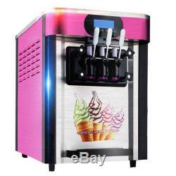3 Saveurs Tambour Automatique Crème Glacée Molle Fabrication Maker Commercial De La Machine De Refroidissement