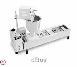 3 Sets Mold Commercial Automatique Donut Machine À Beignet Maker Plus Large Réservoir D'huile