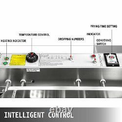 3 Sets Mold Oil Wide Tank Maker Automatique Donut Fryer Making Machine Commercial