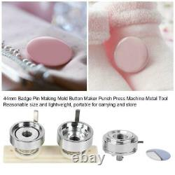 44mm Badge Pin Making Mold Craft Button Maker Punch Press Machine Accessoires