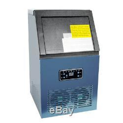 50kg De 24h 110v Auto Commercial Ice Maker De Marque Cube Machine En Acier Inoxydable 230w