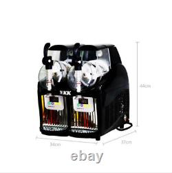 5l Nouveau 2 Réservoir Frozen Drink Slush Slushy Making Machine Juice Smoothie Maker