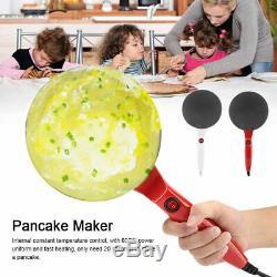 600w Crêpe Maker Électrique Non-bâton Pancake Machine De Fabrication De Cuisine Cuisson Pan