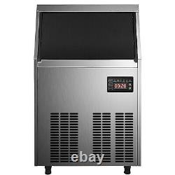 90-100lbs Commercial Ice Maker Ice Cube Making Machine Reservation Fonction Sus