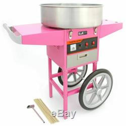 Barbe A Papa Making Machine Panier Rose Cotton Candyfloss Maker Party Commercial