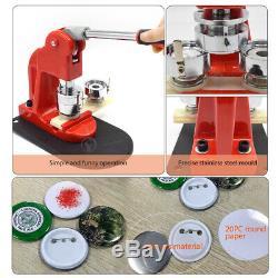 Bouton Machine Maker Badge Fabrication D'épingles Poinçonneuse Cadre En Aluminium + Cutter Cercle