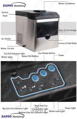 Bullet 160w Électrique De Bureau Automatique Maker Machine De L'entrée D'eau De Production De Glace