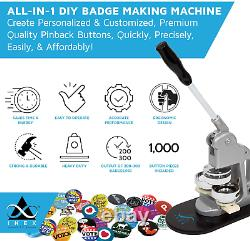 Button Making Machine Pin Maker Fournit Kit 1000 Badges Pin Badges Button Badges