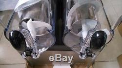 Commercial 2 Réservoir Congelé Boisson Slush Slushy Faire Machine Maker Smoothie 30 L