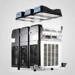 Commercial 3 12l Boisson Congelée Slushy Faire Machine Maker Smoothie 110v Jus