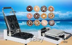 Commercial 4 Lattice Électrique Donut Fabrication De La Farine Machine Beignes 1090w