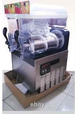 Commercial Boisson Congelée 2 Réservoir Slush Slushy Faire Machine Maker Smoothie 30l